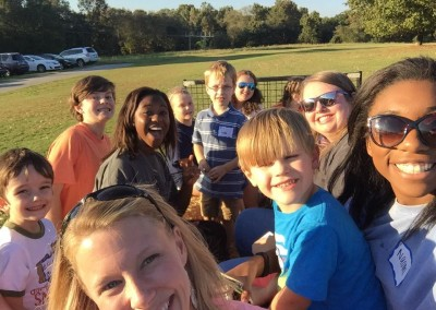 church picnic - selfie - hayride