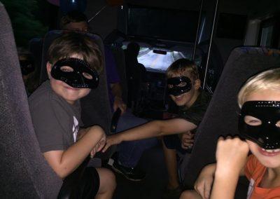 secret giving bus