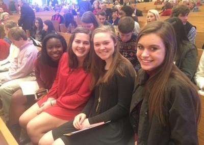 girls in worship
